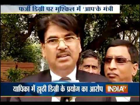 WTF: Indian Law Minister's Fake DU Degree