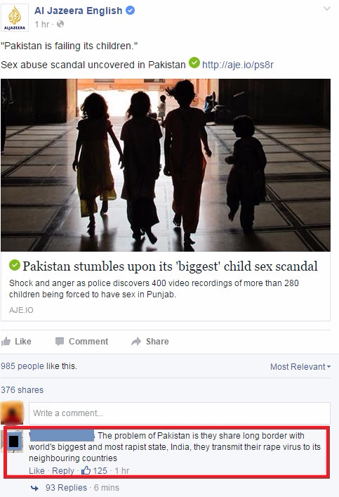 Al Jazeera Posted About A Sex Scandal In Pakistan And The First Comment Will Shock You