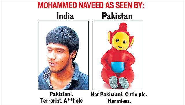 Pakistani Terrorist As Seen By India And Pakistan