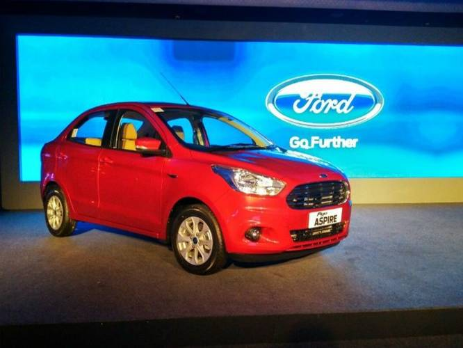 All New Ford Figo Aspire Compact Sedan Launched At Rs 4.89 Lakh