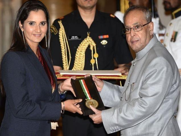 Sania Mirza Receives Rajiv Gandhi Khel Ratna Award
