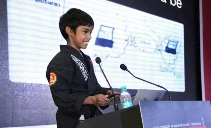 Nine-Year-Old Indian CEO Attends Cyber Summit In New Delhi!