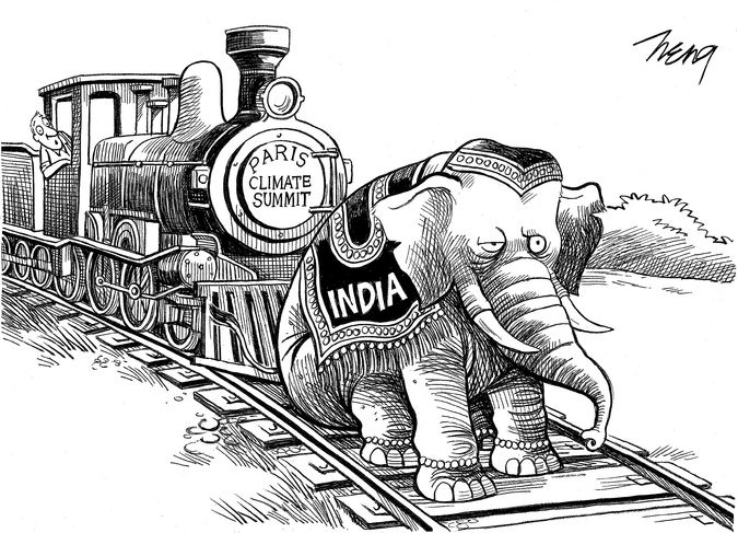 New York Times Portrays India As An Obstructive Elephant In A Caricature!