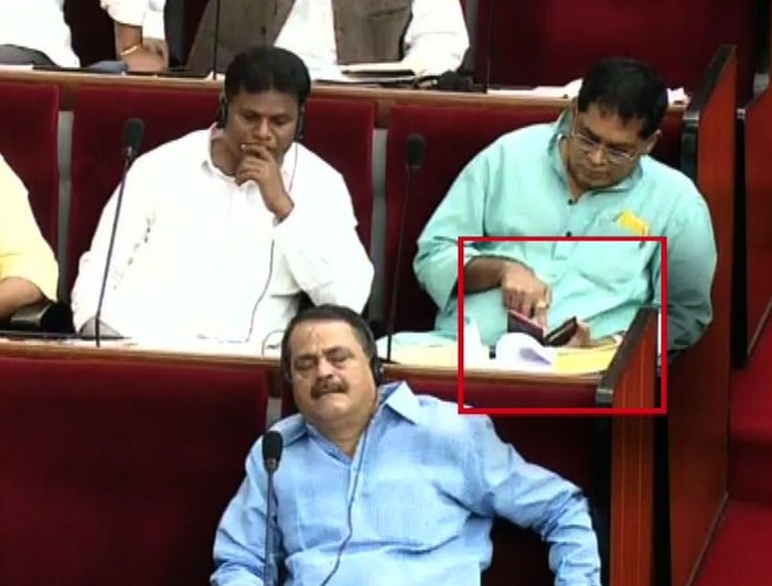 Congress MLA Caught Watching Porn In The Assembly, SACKED!