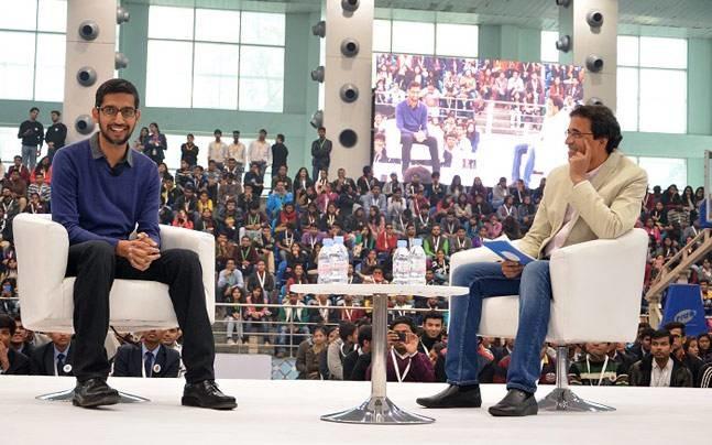 Sundar Pichai's Rapid Fire Round With Harsha Bhogle At SRCC