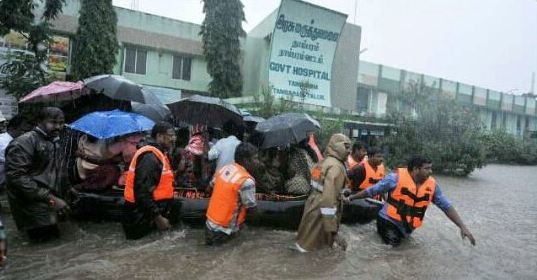 The Good Samaritans: 10 Moving Pictures Of People Rescuing Chennaites During Floods