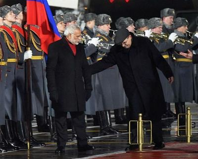 Oops: PM Narendra Modi Disrespects National Anthem In Moscow