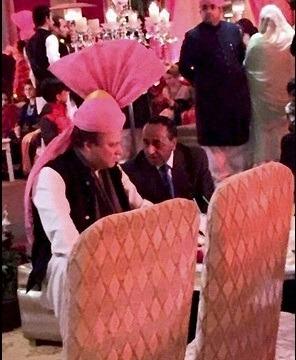 Pakistan PM Sharif Wears Pink Turban Gifted By PM Modi