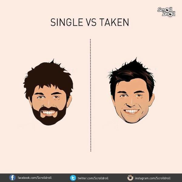 7 Images That Illustrate The Difference Between Single And Taken Men!