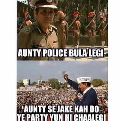 Aunty Police Bula Legi,Party Yoon Hi Chalegi.. Tired Of Forwarded Whatsapp Messages
