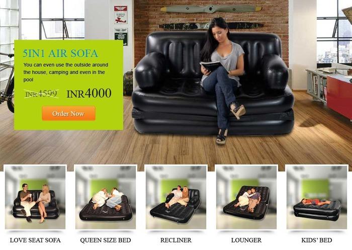 5 In 1 Air Sofa Bed India