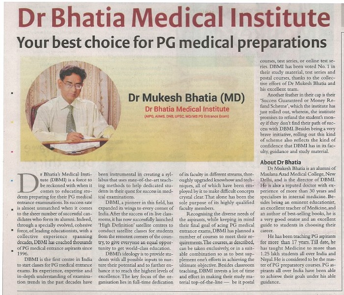 Success Is Guaranteed With Dr Bhatia!