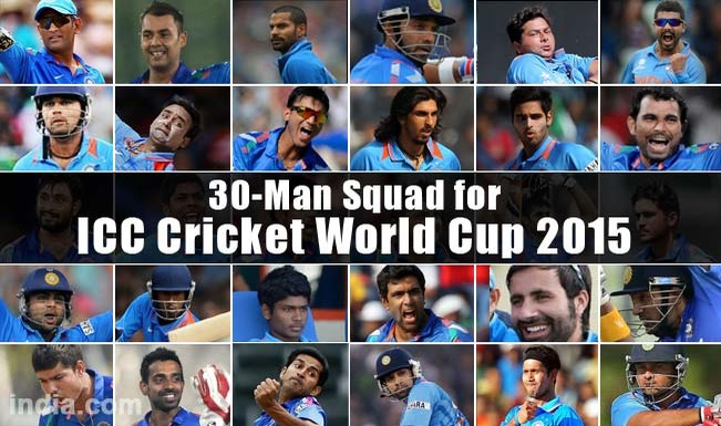 Know Your India World Cup 2015 Cricket Squad!