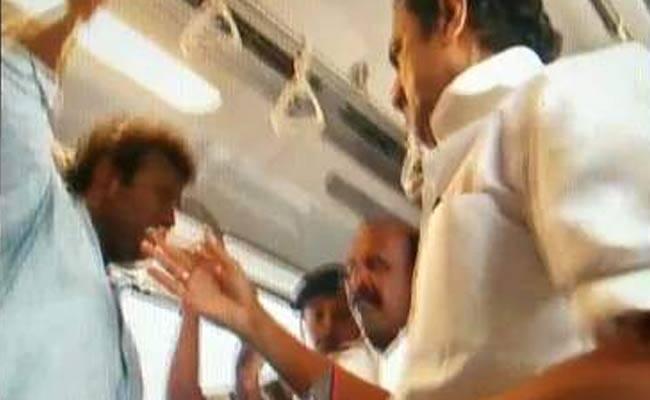 DMK Leader MK Stalin Slaps A Man In Chennai's Metro