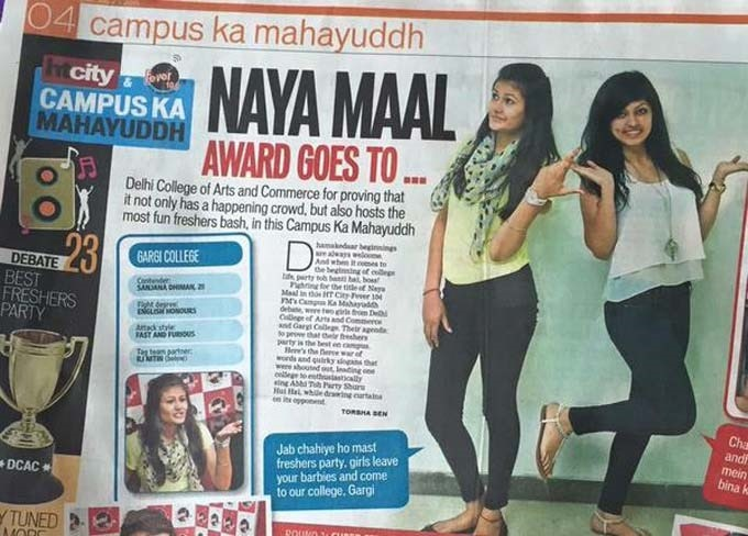 HT City Gives Away The Sexist Naya Maal Award To Freshers