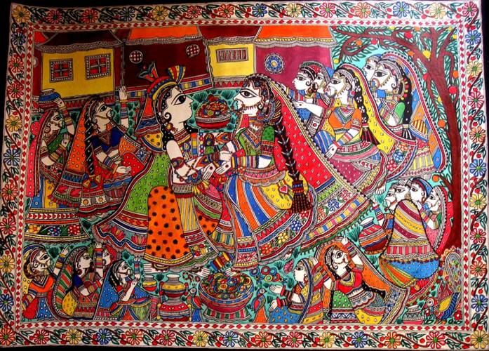 Grandeur Of Indian Arts And Handicrafts - Madhubani