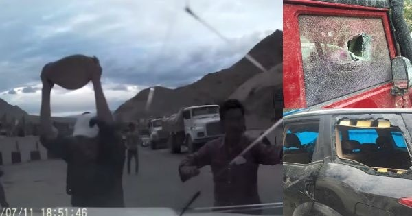 Shocking Video: Taxi Drivers Attack Tourists In Ladakh