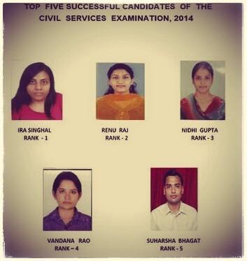 Women Bag Top 4 Positions In UPSC Exam