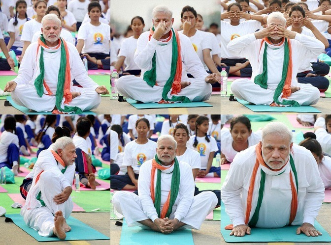Celebs At International Yoga Day