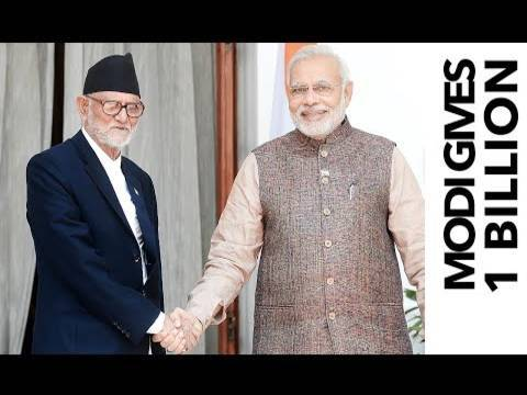 India To Give $1 Billion Aid To Nepal