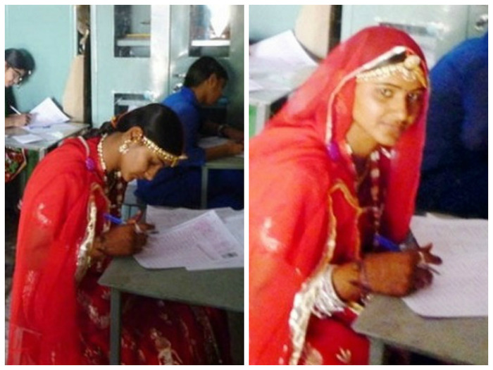 Kudos! Bride Takes A Break From Her Wedding To Appear For An Exam