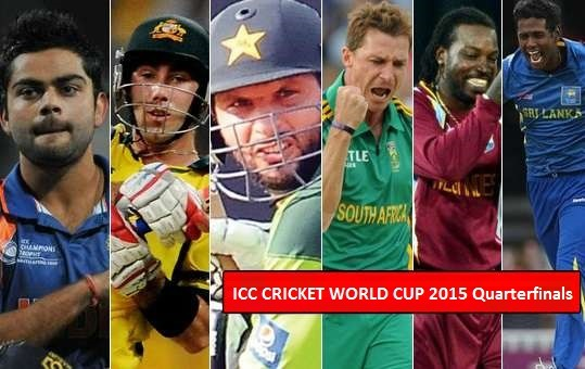 World Cup 2015 Quarter Finals - Teams, Matches, Schedule And All You Want To Know
