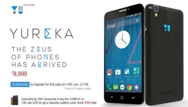 Top Smartphones To Buy Below Rupees15000 -Micromax Yu Yureka