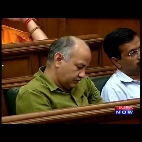 Oops! AAP Leader Manish Sisodia Caught Napping Inside Assembly