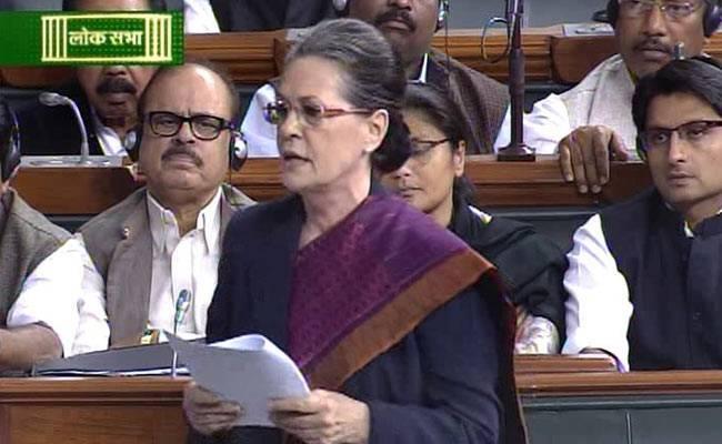 Sonia Gandhi Slams PM Narendra Modi In A Parliament Session