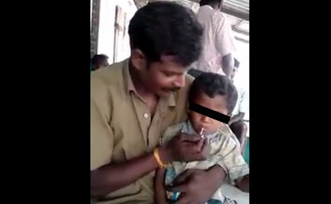 Disgusting: 5 Year Old Boy Forced To Smoke Beedi