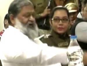Haryana Health Minister Vs IPS Officer Spat?