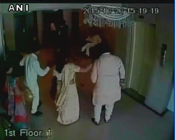 Caught On Cam: BJP MLA Assaults Woman Corporator
