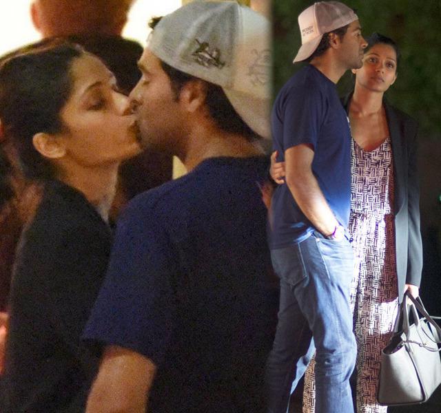 Sealed With A Kiss: Is That Freida Pinto's New Boyfriend?