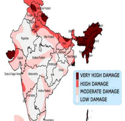 Frequency Of Earthquakes In Indian Subcontinent