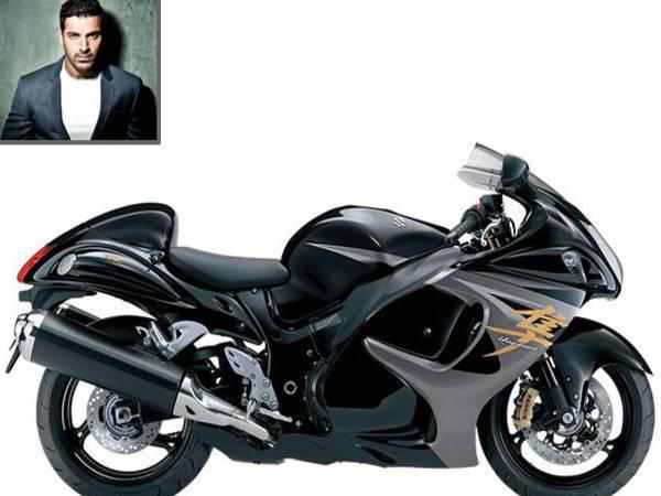 Most Extravagant Celebrity Bikes In The World - John Abraham's Suzuki Hayabusa