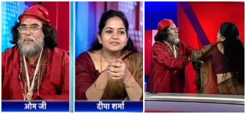 Watch: Lady Astrologer Slaps Baba On Live TV Show