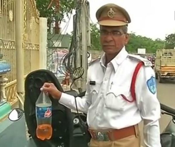 Meet The Hyderabad Traffic Cop Who Gives Away Free Petrol To Stranded Motorists