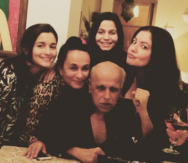Photos: Mahesh Bhatt's Daughters Shower Love On His Birthday!