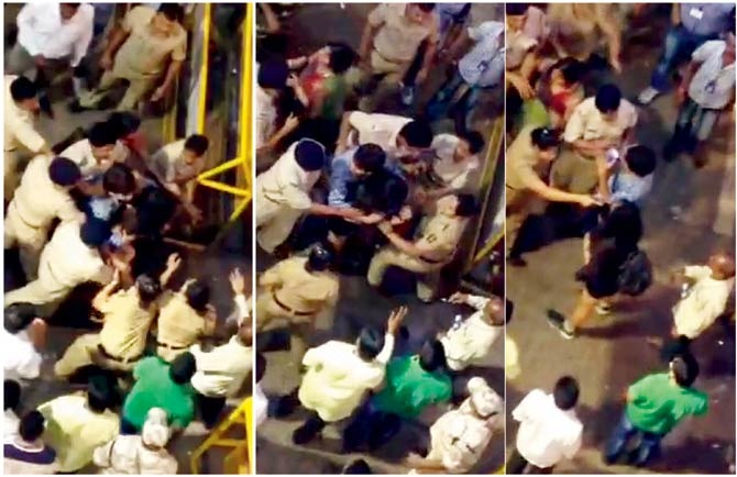Mumbai Girl Assaulted By Cops During Ganpati Visarjan At Lalbaugcha