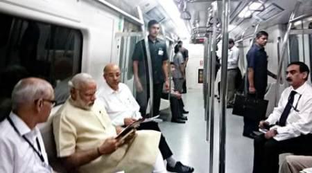 Narendra Modi Travels With Common People In The Delhi-Faridabad Metro