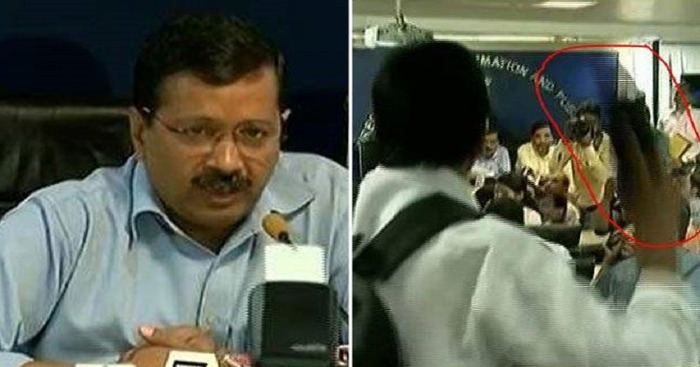 Who Threw A Shoe At Delhi Chief Minister Arvind Kejriwal?