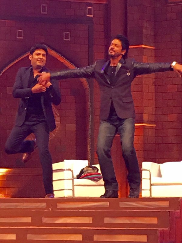 Pics: Kapil Sharma Shoots The First Episode Of His New Show With SRK
