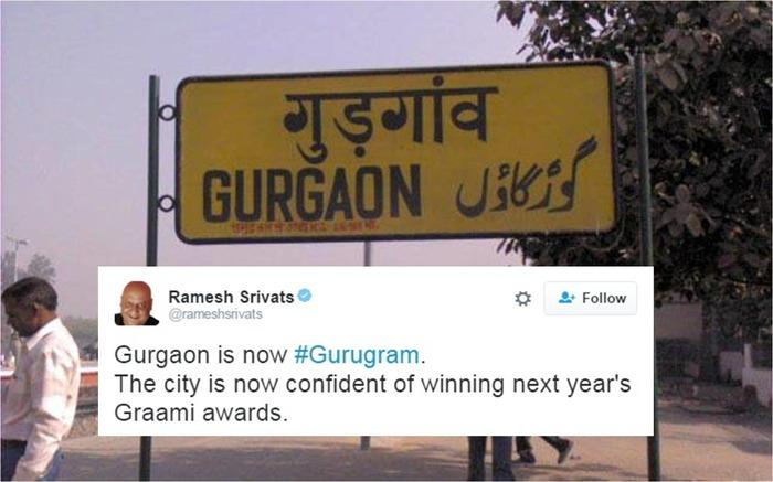 RIP Gurgaon: Hilarious Tweets About Its Rename To Gurugram!