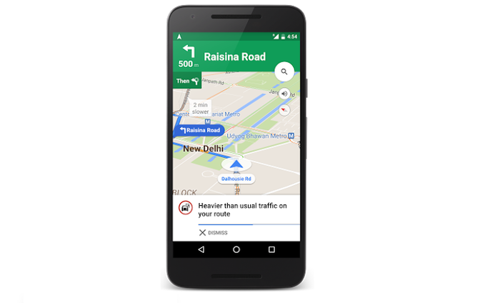 Google's New Update Offers Traffic Alerts And Alternate Routes