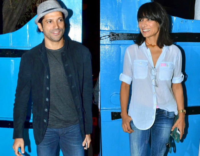 Interesting: Did Farhan & Adhuna Party Together At 'Baar Baar Dekho' Wrap Up Bash?