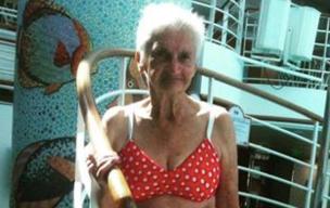 So Inspiring! 90-year-old Woman Stuns In A Polka Dot Bikini