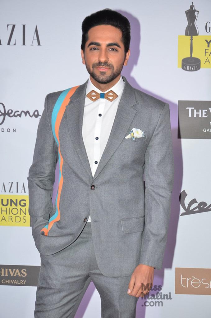 When Dapper Gets Badass: Ayushmann Khurrana Sports A Nose Ring At Grazia Awards