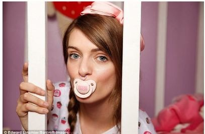 21-Year-Old Woman Acts Like A Baby To Recover From Her Childhood Trauma
