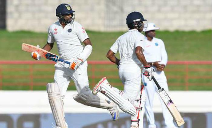 India Vs West Indies: Ashwin, Saha Guide India To 234/5