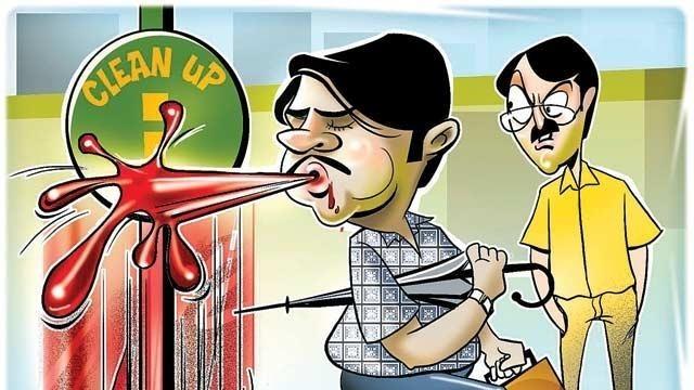 Mumbaikars Fined Rs65L For Spitting